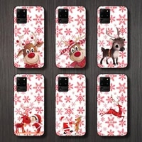 merry christmas deer cartoon phone case for samsung galaxy a s note 10 7 8 9 20 30 31 40 50 51 70 71 21 s ultra plus