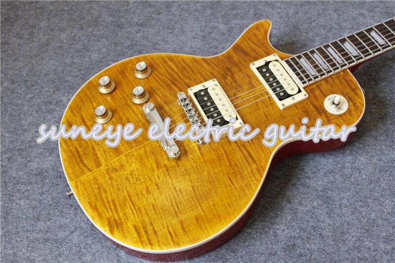 Suneye-Guitarra eléctrica para zurdos, color amarillo oscuro, estilo Slash, Kit de Guitarra...