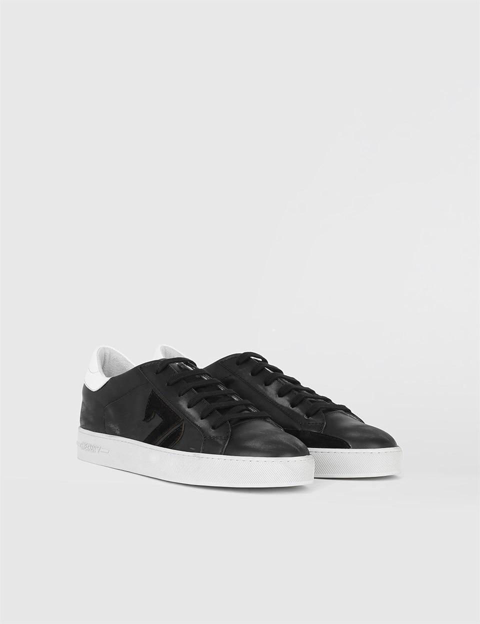 ILVi-جلد طبيعي اليدوية بيوس الأسود نابا جلد الرجال حذاء رياضة حذاء رجالي 2021 الربيع/الصيف