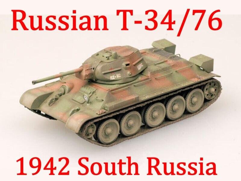Us stock trumpeter T-34/76 1/72 sul soviético mod.1942 chariot panzer tank 36266