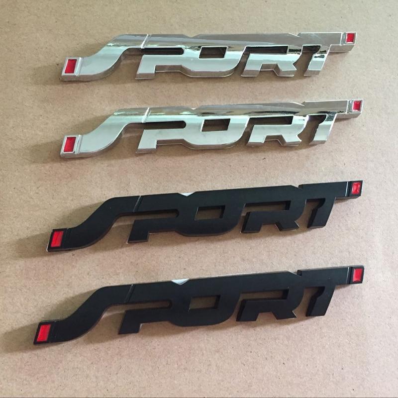 3D Sport Side Fender Badge Refit Metal Rear Trunk Emblem for Ford Mondeo Focus 2 3 MK2 Fiesta Kuga Ecosport Fusion
