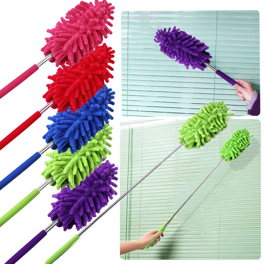 Microfiber Duster Adjustable Dusting Brush Extendable Dust Cleaner Anti dus Air-condition Car Household Furniture Cleaning tool