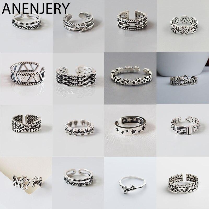 Серебряные-Оригинальные-кольца-goldria-в-разных-стилях-из-тайского-серебра-ручной-работы-размер-18-мм-регулируемые-кольца-для-мужчин-и-женщин