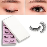 1 pair fake eyelash thick natural effect multiple layers 3d faux mink hair eye lash for dating
