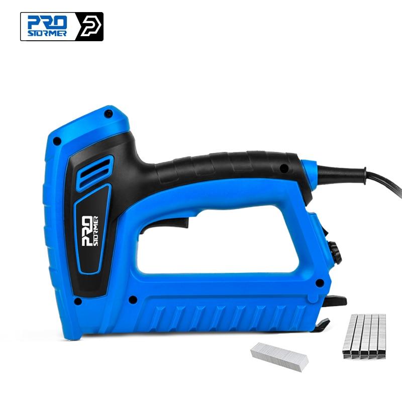 2000W Electric Nail Gun 220V-240V Nailer Stapler Woodworking Electric Tacker Furniture Staple Gun Power Tools by PROSTORMER