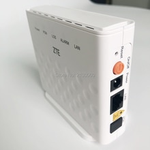 10 pièces/lot ZTE ZXA10 ZXHN F601 GPON ONU ONT avec le terminal anglais de micrologiciel de Port dethernet de 1GE, aucune boîte simple