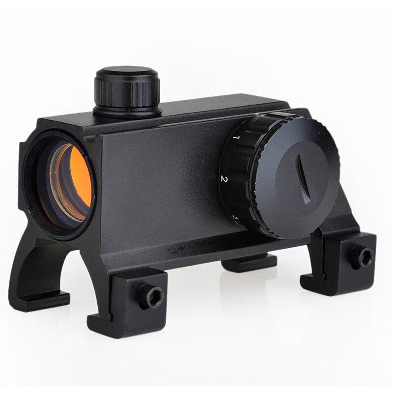 Pistolas de aire opticas Riflescope MP5 G3 1x20 garra compacta Red Dot Rifle Scope Reflex Sight telescopio alcance para pistolas