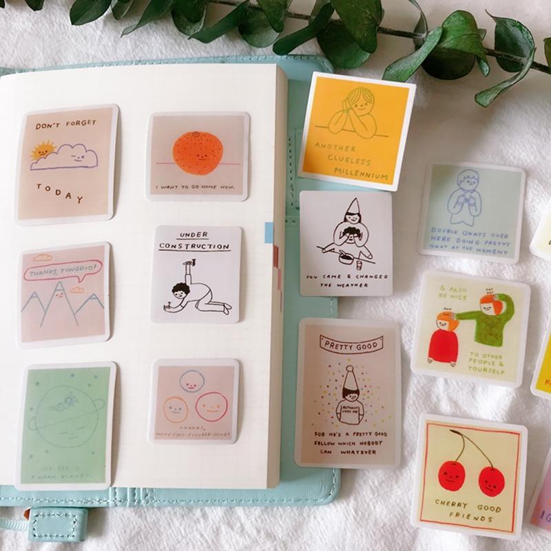 Pegatina para álbum de recortes DIY planificador feliz diario álbum de fotos diario junk diario papelería juguete decoración pegatina