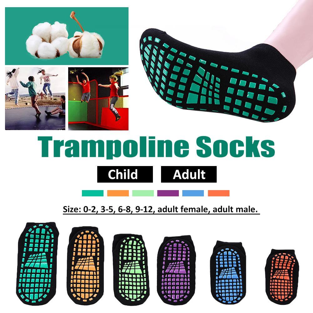 Sports de plein air chaussettes enfants Polyester coton anti-dérapant chaussettes Trampoline chaussettes adulte confortable usure semelles antidérapantes