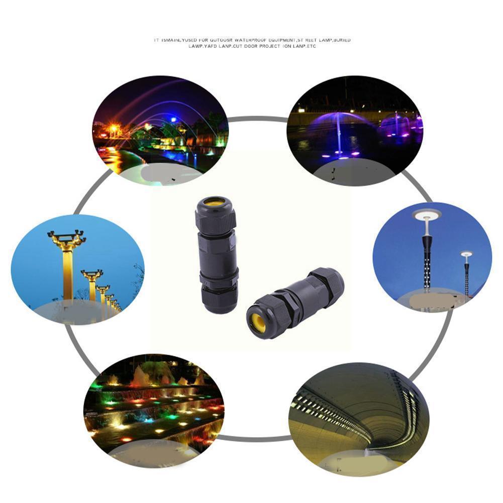 Conectores de Cable eléctrico de Unión recta, a prueba de agua IP68,...