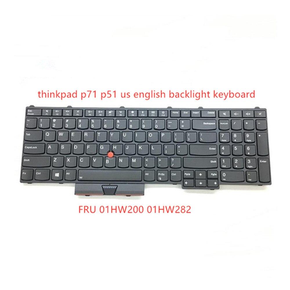 Thinkpad p71 p51 لوحة مفاتيح الكمبيوتر المحمول p71 p51 الأصلية ، مع إضاءة خلفية ، FRU 00HW200 00HW282 SN20M15446