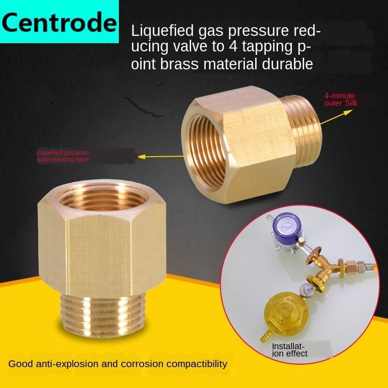 Válvula redutora de pressão de gás liquefeito a 4 pontos de cobre comum cilindro de aço do tanque de gás relação de transferência encaixes de cobre