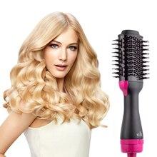 Hair Brush One-Step Hair Volumizer 3 In 1 Dryer Straightener Curler Styling Comb Hot Comb Blow Dryer Brush