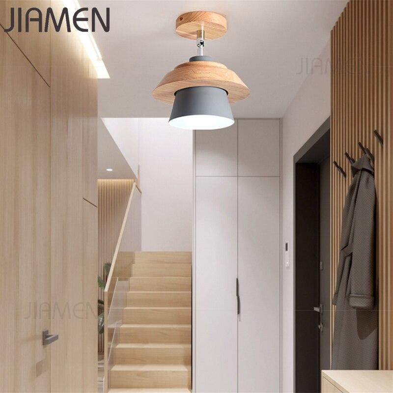 JIAMEN Современная потолочная лампа Macaron, светодиодные лампы, красочный абажур, лампа для гостиной, спальни, детской комнаты, потолочные светил...