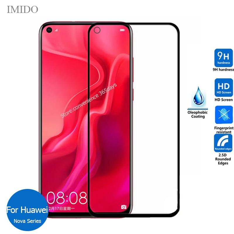 Полное закаленное стекло для Huawei Nova 7i 6 Se 5T 5 Pro 4 4E 3 i 3E 3i 2I Защитное стекло для экрана на Nova5T Nova7i