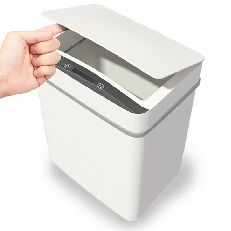 Automatic Kitchen Trash Can Smart Infrared Motion Sensor Rubbish Waste Bin Zero Waste Bote De Basura Plastic Bucket EA6LJT enlarge