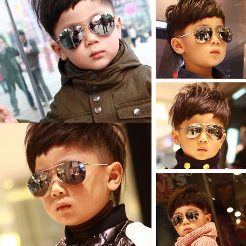 2019 Sunglasses new fashion baby kids boy girl Pilot sunglasses metal frame goggles glasses for kids