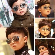 2019 Sunglasses new fashion baby kids boy girl Pilot sunglasses metal frame goggles glasses for kids