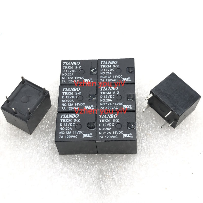 5-100 pcs/lot power relais für TIANBO TRKM S-Z D 12VDC 5 Fuß Neue Open-Close 20A/7A T78