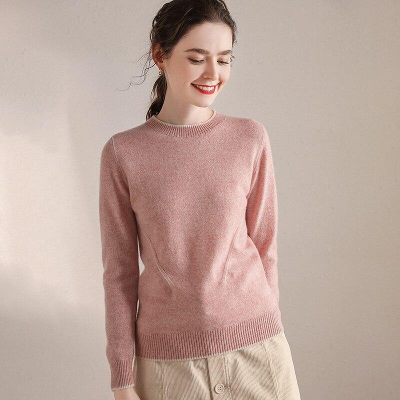 100% Cashmere Sweater Women O-neck Long Sleeves Autumn Winter Sweater Female hedging Sweater Women's Knitting Jumper enlarge
