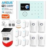 Angus     systeme dalarme de securite domestique sans fil  wi-fi  GSM  controle par application  anti-cambriolage