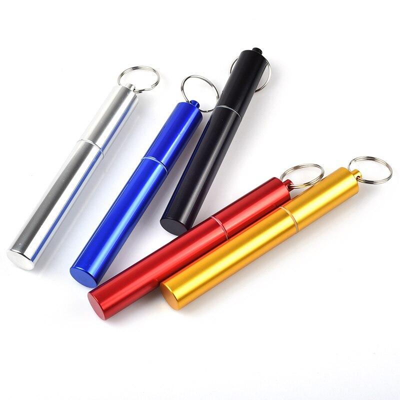 1PC Portable étanche voyage métal pilule boîte porte-clés stockage porte-clés stockage pot scellé bouteille médecine bouteille en alliage daluminium