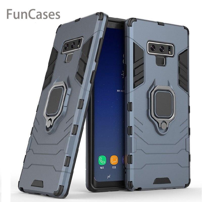 Бронированный чехол-подставка для телефона Samsung Galaxy Note 9 S10 S9 S8 Plus S10 с кольцом-держателем, чехол для Samsung A7 A8 J4 J6 Plus, чехол