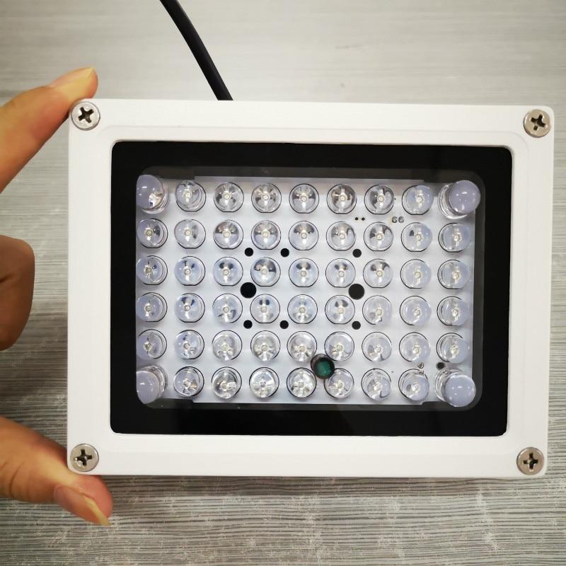 Dc12v ao ar livre à prova de chuva cctv ir iluminador 54 pces ir led visão noturna infravermelho cctv luz preenchimento para câmeras de segurança modelo