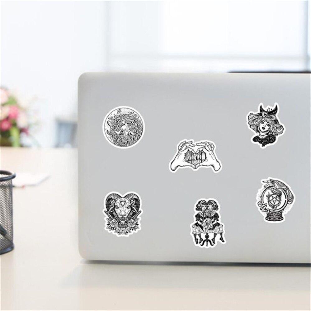 10/30/50PCS Creative Black and White Gothic Dark Black Graffiti Stickers Waterproof Notebook Helmet with Stickers Wholesale