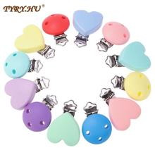 TYRY.HU Silicone Dentition New Round Heart Shaped Clips BPA Free DIY Baby Soother Nursing Dummy Draf