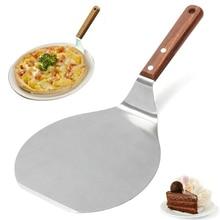 Spatule à Pizza en acier inoxydable   Pelle à tarte, pelle à gâteau, outil de cuisson à crêpes pour la cuisine à domicile JS22