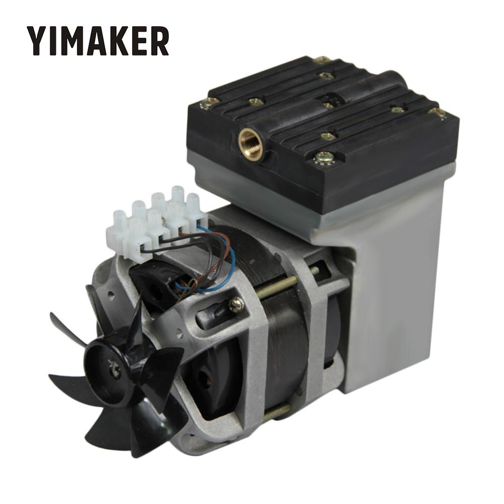 YIMAKER AC 220V 80W bezołowiowa membranowa pompa próżniowa elektryczna Mini 33L/Min przepływ próżniowy
