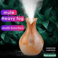 Mini diffuseur ultrasonique en bois  humidificateur dair  purificateur dair  diffuseur darome dhuile essentielle  desodorisant de nuit pour la maison