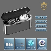 wireless earphones tws bluetooth 5 0 mini earbuds stereo bass led power display noise cancelling sports waterproof in ear