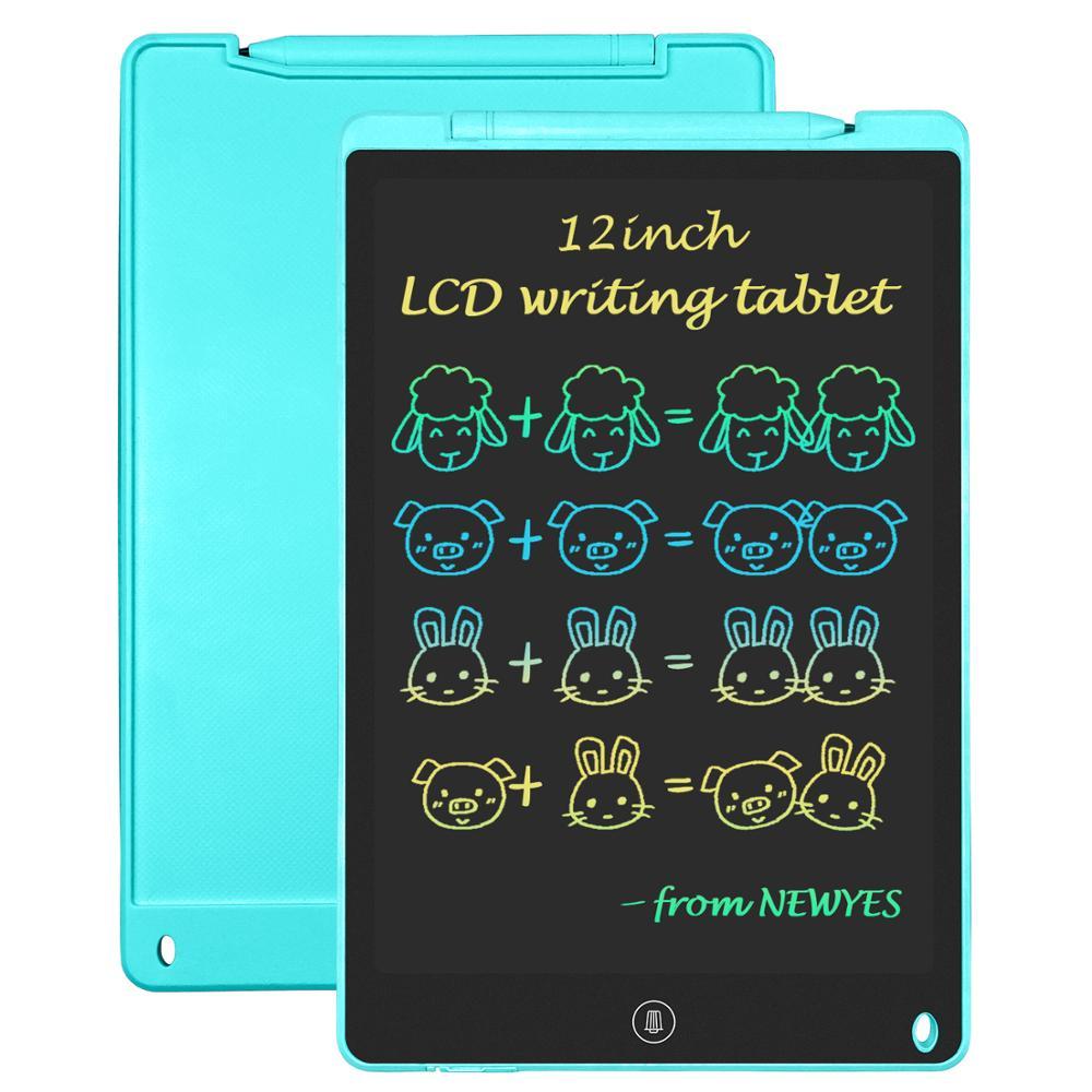لوح رسم بشاشة LCD مقاس 12 بوصة للأطفال ، للكتابة الإلكترونية ، والرسم ، والرسائل الرقيقة ، والرسم ، وشاشة قوس قزح ، والهدايا