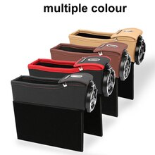 Autostoel opbergdoos auto   opbergtas PU zak auto opbergvak afwerking telefoonkaart muntautomaat, accessoires