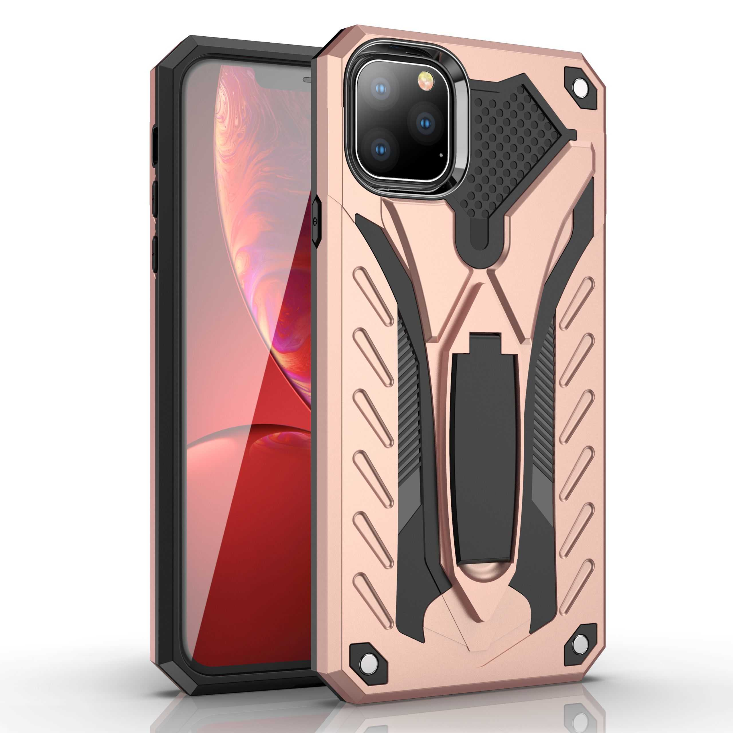 Rugged Armor Case For Motorola Moto G4 G5 E4 E5 C G6 G7 Power Plus Play Hard PC Holder Protective Shockproof phone Case Cover
