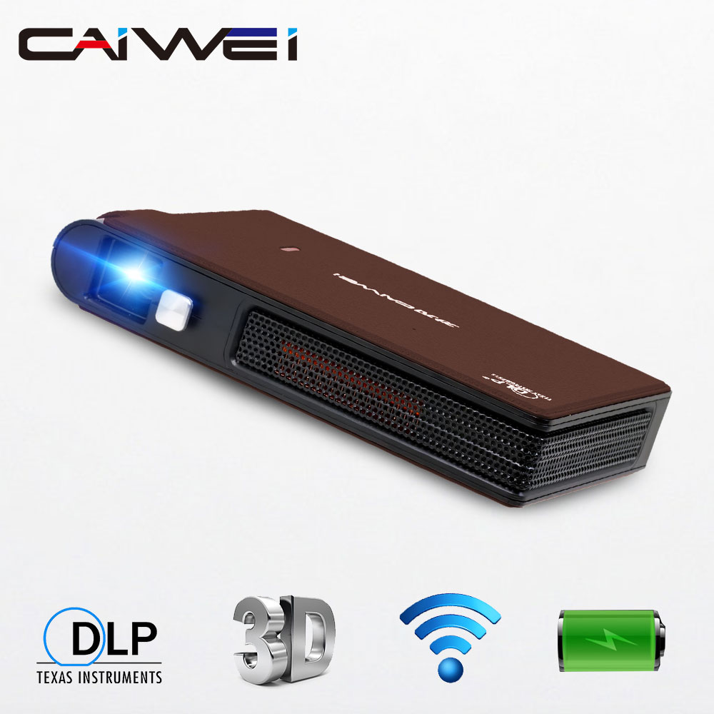 Portable DLP Projector Support Full HD/WiFi/Auto ±50°Keystone Correction/Rechargeable Battery/Larg