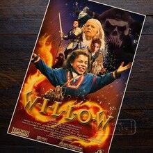 Willow Dwarf sci-fi Fantasy Film Film w stylu Vintage Retro ozdobna ramka plakat DIY ściana płótno naklejki plakaty do domu Home Decor