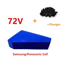 72V 2000W batería triangular 72V 20AH 15AH batería de litio batería de bicicleta eléctrica con 50A BMS con bolsa de cargador de 84V