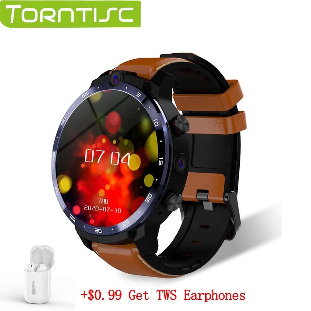 Promo Torntisc LEM12 PRO Smart Watch New WIFI GPS Wireless Projection Dual Cameras 400*400 Resolution 4+64G Custom Face for Android 10