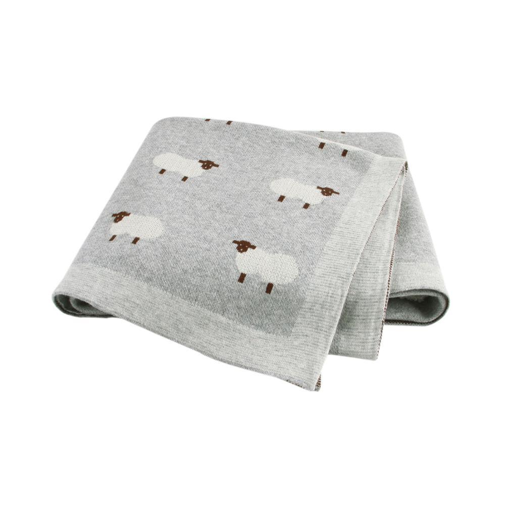 Baby Blankets Knitted Newborn Swaddle Stroller Bedding Wrap Cartoon Alpaca Infantil Boys Girls Receiving Blanket Children Quilts