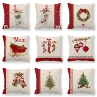 bedding christmas american country style simple small gift linen sofa pillow cushion pillow case