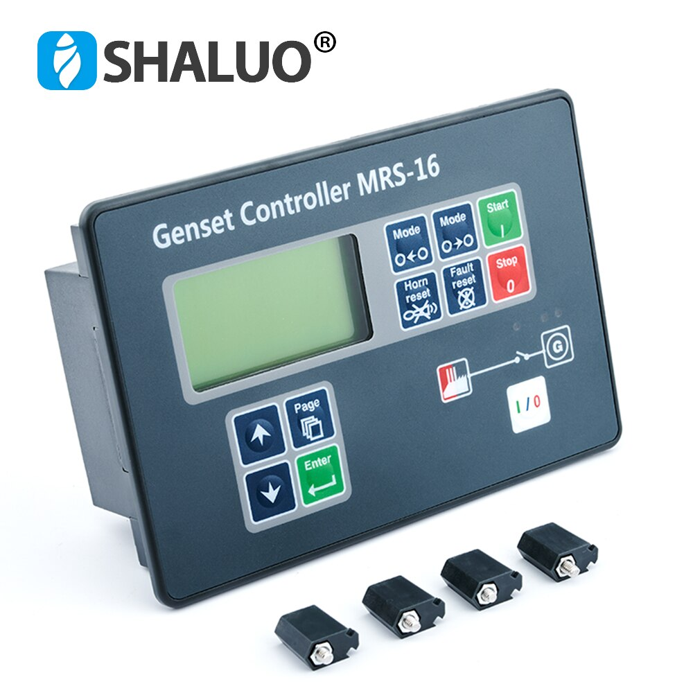 MRS16 MRS-16 المولد تحكم السيارات عن بعد بداية LCD التحكم حماية وحدة لوحة الديزل مولد جزء متوافق مع الأصلي