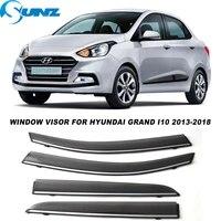 side window visors for hyundai grand i10 2013 2014 2015 2016 2017 2018 smoke weathershields sun rain deflectors sunz