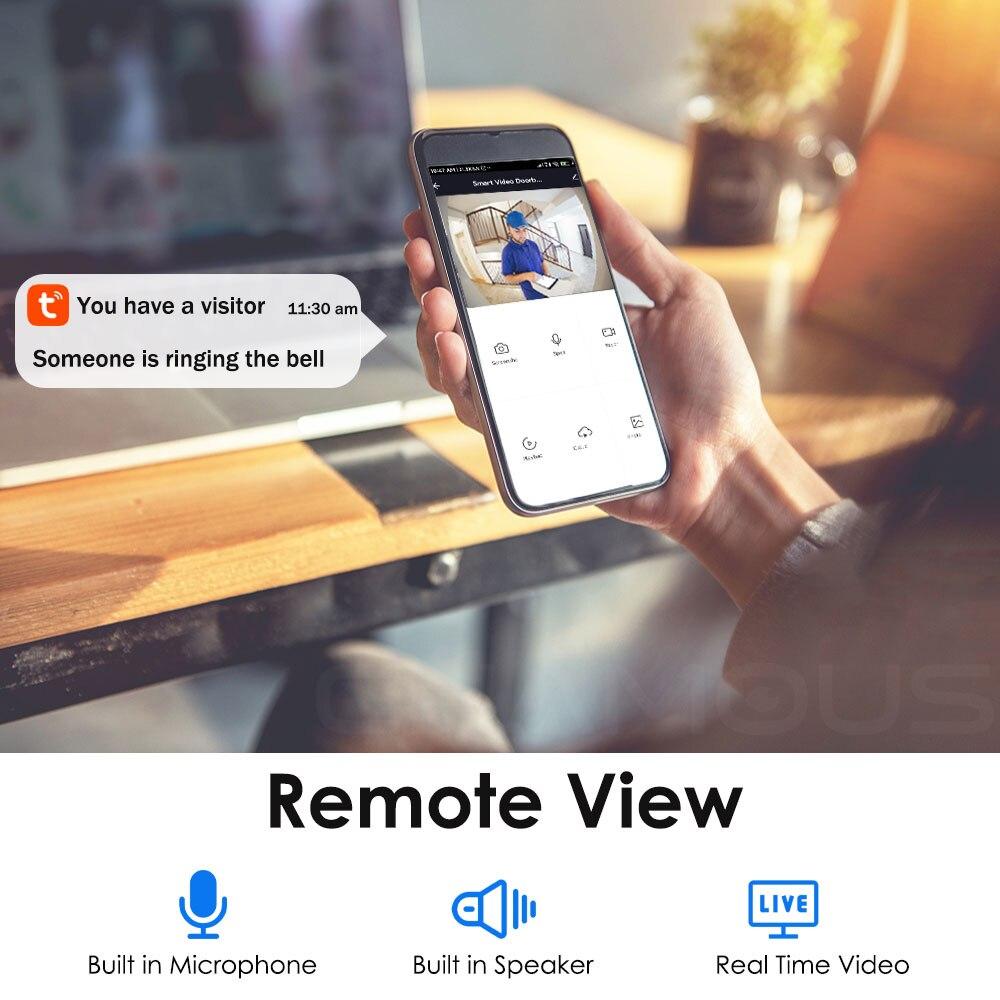 Intercom Security Outdoor Door Camera 1080P HD Home Monitor WIFI Doorbell Smart Home Wireless WiFi Video Doorbell enlarge