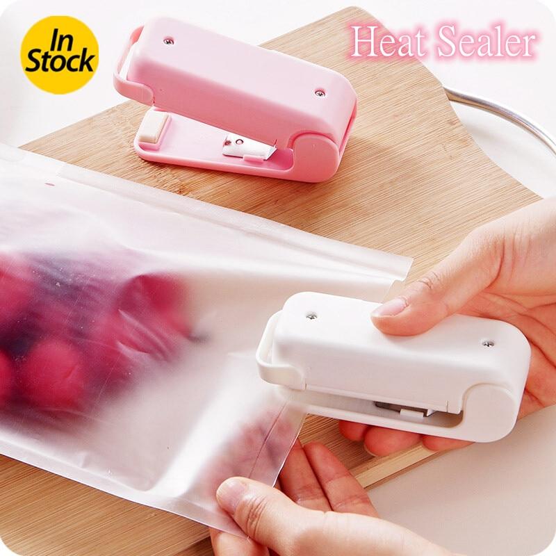 Aferidor do calor portátil mini pacote de plástico saco de armazenamento máquina selagem saco de armazenamento de cozinha clipes gadgets de cozinha atacado