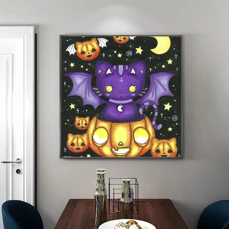 GMAIL New Digital Oil Painting DIY Bedroom Living Room Halloween Digital Oil Painting Decoration 2021 (frameless)