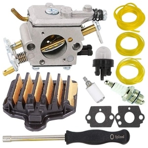PP5020AV Carburetor with 575296301 Air Filter for Poulan PP5020 2 Stroke Gas Chainsaw Replace C1M-W47 Craftsman
