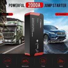 Yaber YR700 saut démarreur 2000A durgence voiture saut démarreur batterie externe Auto Booster 22000mAh 100W sortie ca ue/US/UK/JP